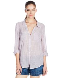 Joie - Purple Cartel Top - Lyst