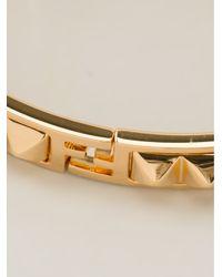 Fendi - Metallic Studded Bracelet - Lyst