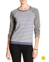 Banana Republic | Gray Factory Colorblock-stripe Sweater | Lyst