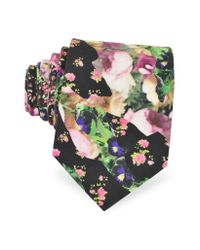 Givenchy - Multicolor Floral Print Silk Narrow Tie for Men - Lyst