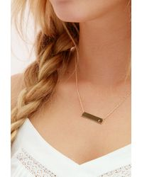 Forever 21 - Metallic Adorn512 Initial A Bar Necklace - Lyst