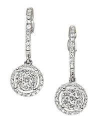Effy | Bouquet Diamond And 14k White Gold Drop Earrings, 0.59tcw | Lyst