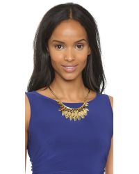 kate spade new york - Metallic Fancy Flock Collar Necklace - Gold - Lyst