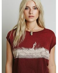 Free People | Purple We The Free Womens We The Free Thunder Tee | Lyst