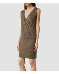 AllSaints - Brown Kerin Dress - Lyst