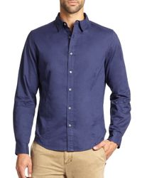 Madison Supply - Blue Core Cotton Sportshirt for Men - Lyst