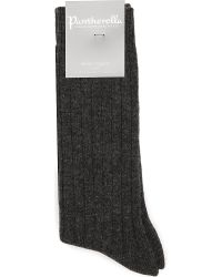 Pantherella | Gray Ribbed Cashmere-blend Socks - For Men for Men | Lyst