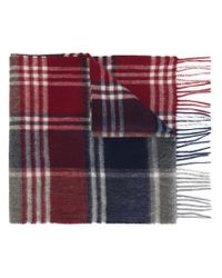 Barbour - Red Tartan Scarf for Men - Lyst