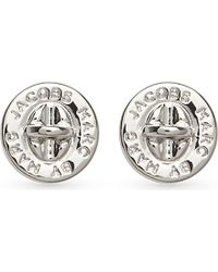 Marc By Marc Jacobs - Metallic Turnlock Stud Earrings - For Women - Lyst