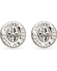 Marc Jacobs | Metallic Turnlock Stud Earrings | Lyst