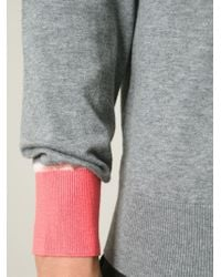 Paul Smith - Gray Contrast Cuffs Sweater for Men - Lyst