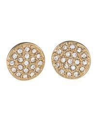 Lauren by Ralph Lauren - Metallic Goldtone Pav?? Crystal Stud Earrings - Lyst