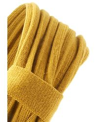 Forever 21 - Yellow Knit Ruched Bow Headwrap - Lyst