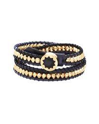 House of Harlow 1960 - Black Karma Beaded Wrap Bracelet - Lyst