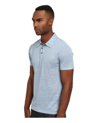 VINCE | Blue Linen Polo Shirt for Men | Lyst