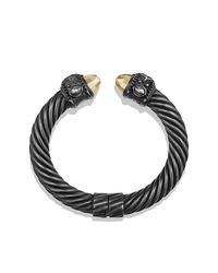 David Yurman | Black Renaissance Bracelet With Diamonds | Lyst