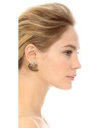 Elizabeth Cole - Metallic Loyce Earrings - Marble Blue - Lyst