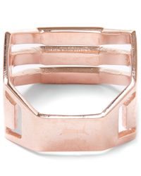 Maria Black - Pink Rose Gold-plated Trinity Ring - Lyst