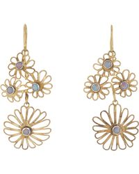 Judy Geib | Metallic Opal & Gold Flowery Filigree Earrings | Lyst