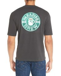 Tommy Bahama | Gray 'paradise Brew' Graphic Crewneck T-shirt for Men | Lyst