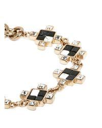 Lulu Frost | Metallic Crystal Stone Mosaic Terraced Chain Bracelet | Lyst