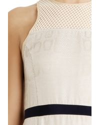 Charlotte Ronson | Natural Silk Fishnet Dress | Lyst