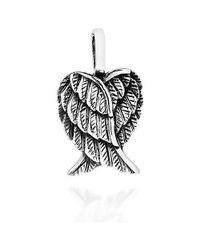 Aeravida | Metallic Delightful Petite Heart-shaped Angel Wings Sterling Silver Pendant | Lyst