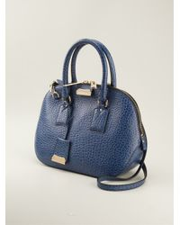 69cb34f295d6 Lyst - Burberry The Small Orchard Bowling Bag in Blue