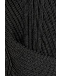 Alexander Wang - Black Ribbed-Knit Cotton-Blend Top - Lyst