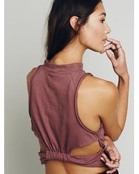 Free People | Brown We The Free Womens We The Free Queen Tank | Lyst