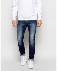 Grain Denim | Blue Slim Dirt Wash Jeans for Men | Lyst