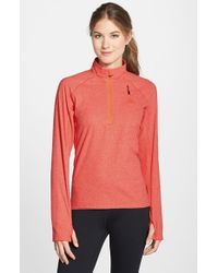 Adidas | Orange 'reachout' Half Zip Hiking Top | Lyst