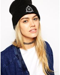 ASOS | Black 90S Tattoo Choker Necklace With Faux Pearl | Lyst