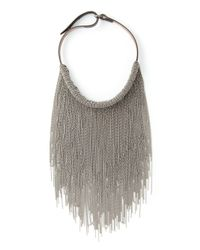 Brunello Cucinelli | Metallic Choker Necklace | Lyst