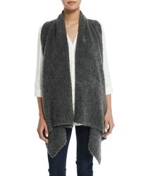 Soft Joie | Gray Orrin Boucle Wool-blend Vest | Lyst
