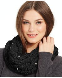 Betsey Johnson - Black Pearly Girl Snood - Lyst