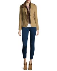 Veronica Beard - Natural Scout Jacket W/ Leather Dickey - Lyst