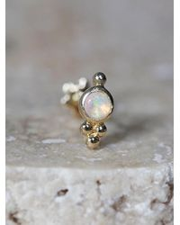 Free People | Yellow Opal Trinity Helix Stud | Lyst