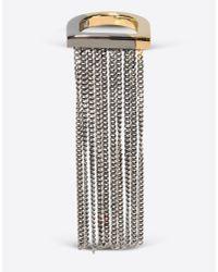 MM6 by Maison Martin Margiela | Metallic Chain Fringe Ring | Lyst