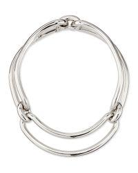 Balenciaga - Metallic Maillon Metal Clip Necklace - Lyst