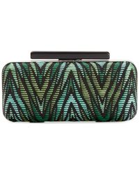 La Regale | Green Zig Zag Clutch | Lyst