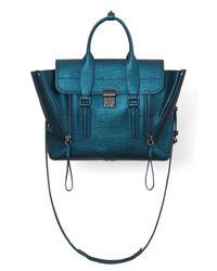 3.1 Phillip Lim - Blue Pashli Medium Satchel in Turquoise - Lyst