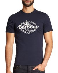 Barbour - Blue Harbour Cotton T-shirt for Men - Lyst