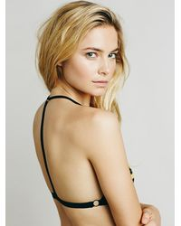 Free People - Black Birds In The Sky Strappy Bra - Lyst