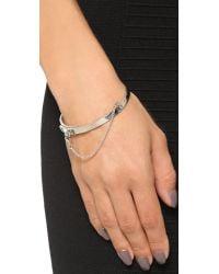 Eddie Borgo - Metallic Extra Thin Chain Bracelet - Lyst