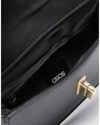 ASOS - Black Structured Bum Bag - Lyst