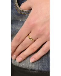 Marc By Marc Jacobs - Metallic Mmj Plaque Ring Oro - Lyst