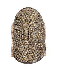 Sara Weinstock - Multicolor Pave Sapphire & Pave Diamond Saddle Ring - Lyst