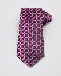 Armani - Purple Geometric Flower Classic Tie for Men - Lyst