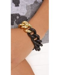 Elizabeth and James - Metallic Bauhaus Rubber Chain Bracelet - Lyst
